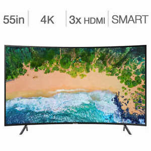 Samsung UN55NU7300 55-in. Curved Smart 4K HDR TV BNIB