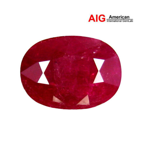 "3.14 ct ""AIG"" CERTIFIED 100% NATURAL PIGEON BLOOD COLOR RUBY"