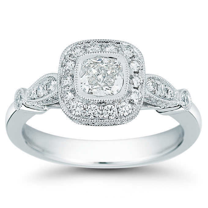 GIA Certified Diamond Engagement Ring 1.54 carat Cushion Shape Platinum VVS1