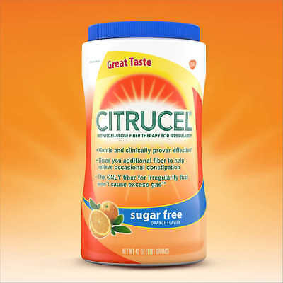 Citrucel Methylcellulose Fiber, Sugar Free, 42 Ounces New...Sealed!!