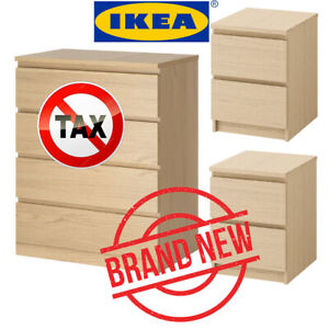 SAVE $50-BRAND NEW- IKEA MALM 4-DRAWER CHEST AND 2xMALM 2-DRAWER