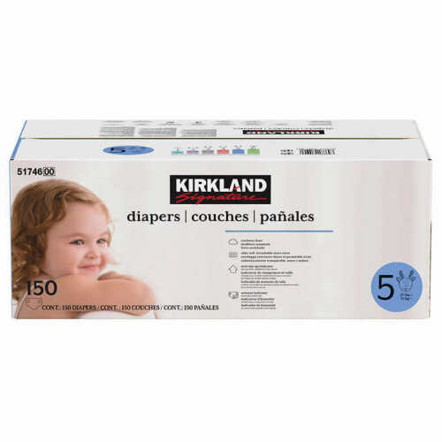 Kirkland Signature Supreme Diapers Size 5: 27lbs and up, 168 Count