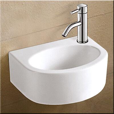 Waschbecken Waschtisch für Gäste WC Keramik Handwaschbecken Waschschale für Bad