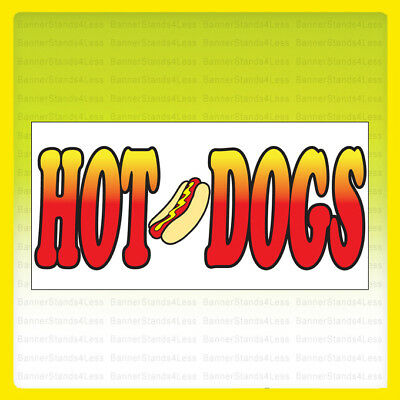 20x48 Inch Hot Dogs Vinyl Banner Sign Wb