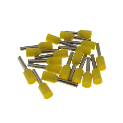 Insulated Wire Ferrules Terminal Connector 22awg Yellow - Qty100