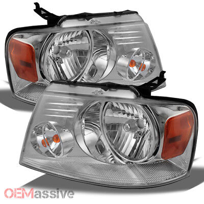 2004-2008 Ford F-150 F150 /2006 Lincoln Mark LT Headlights Headlamps Left+RIght