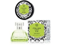 Italian Summer Fig Eau de Toilette 50ml & Bodyshop Italian Summer Fig Body Cream 200ml - NEW