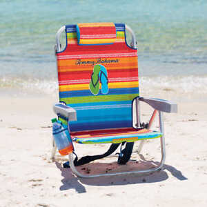 Tommy Bahama Backpack Cooler Beach Chair- Striped