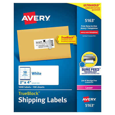 Avery Labels With Trueblock Technology 2 X 4 1000-count