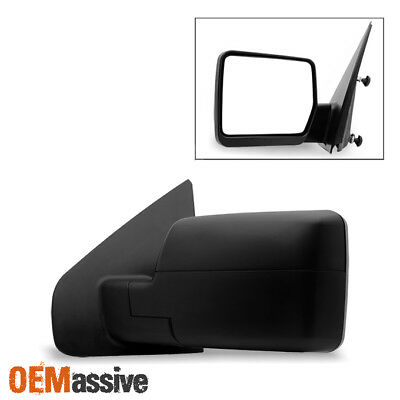 Fit 2004-2014 Ford F150 Pickup Textured Manual Mirror Driver Side Replacement