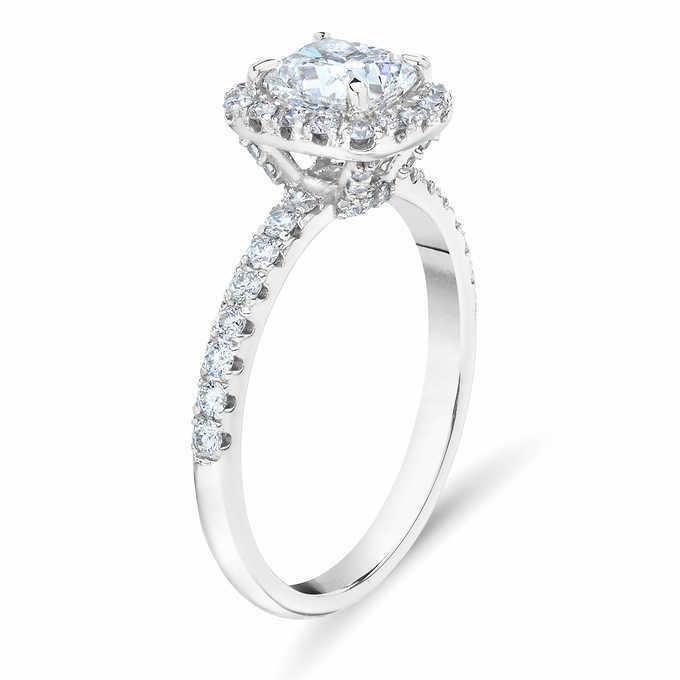 GIA Certified Diamond Engagement Ring 1.12 carat Cushion Shape 18K Gold  1