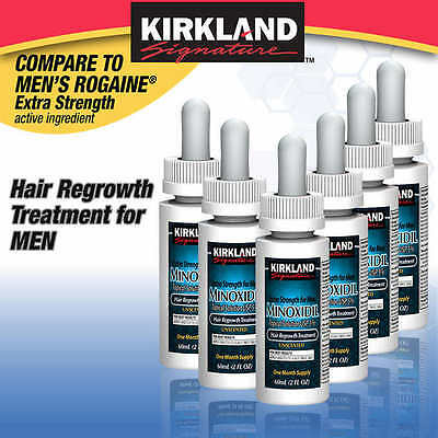 New Kirkland Minoxidil 5  Extra Strength Hair Loss Treatment Regrowth 6Mo Men