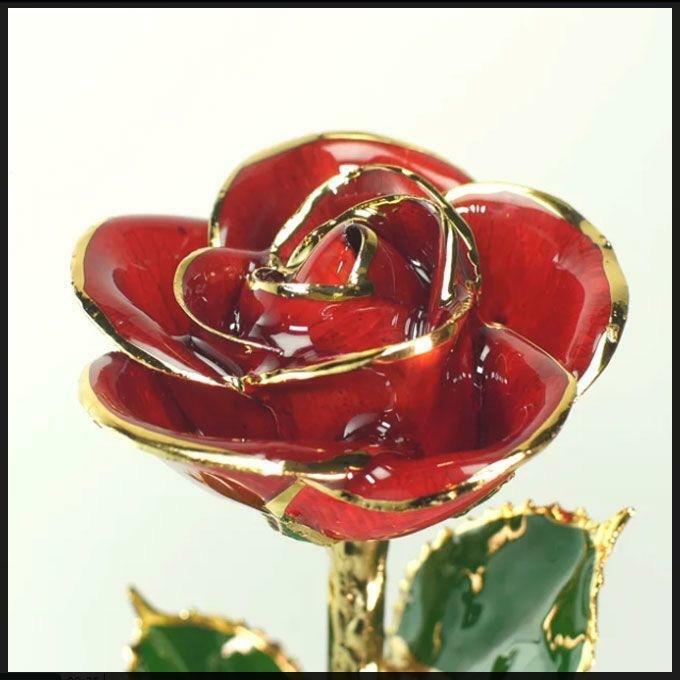 Steven Singer 24k Gold Dipped Rose