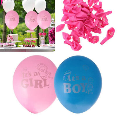 20Pcs Its A Boy Its A Girl Latex Balloons Baby Shower Party Decoration 12