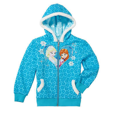 NWT Disney Frozen Elsa Ana Girl Costume Fur Lined Hoodie Jacket 6 6X ~LICENSED!](Ana Costumes)