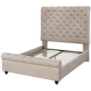High End KING Sized Upholstered Platform Bed NEW
