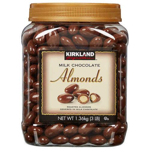 Kirkland Signature Almonds, Milk Chocolate, 3 lb - FREE SHIPPING EXP 03/2022