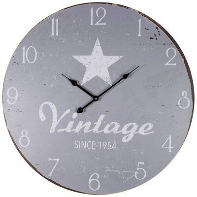 Retro XXL Wanduhr Vintage Star Uhr Stern Antik ca. 60cm Shabby-look NEU/OVP (Uhr Vintage Wand)