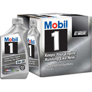 Mobile 1 full synthetic oil. 5W-20