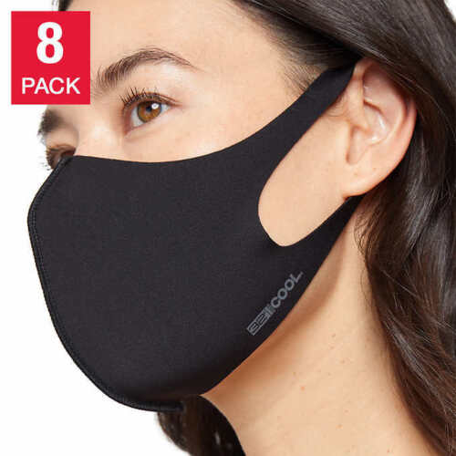 8 PACK Face Mask Cover 32 DEGREES COOL UNISEX 4 black 2 gray 1 navy 1 gray camo
