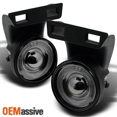 Fits Smoked 94-01 Dodge Ram 1500 2500 3500 Halo Projector Fog Lights Left+Right