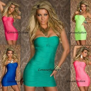 SEXY-STRAPLESS-BANDEAU-MINI-STRETCH-BODYCON-SUMMER-LONG-TOP-DRESS-PARTY-CLUBBING