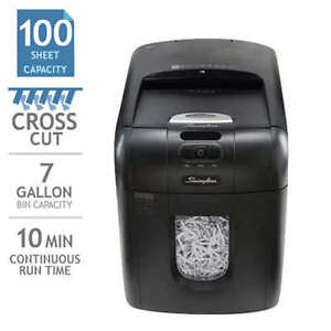 Stack and Shred Auto-Feed 100-Sheet Cross-Cut Shredder