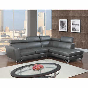 Leather Air Fabric Right or Left Hand Facing Sectional