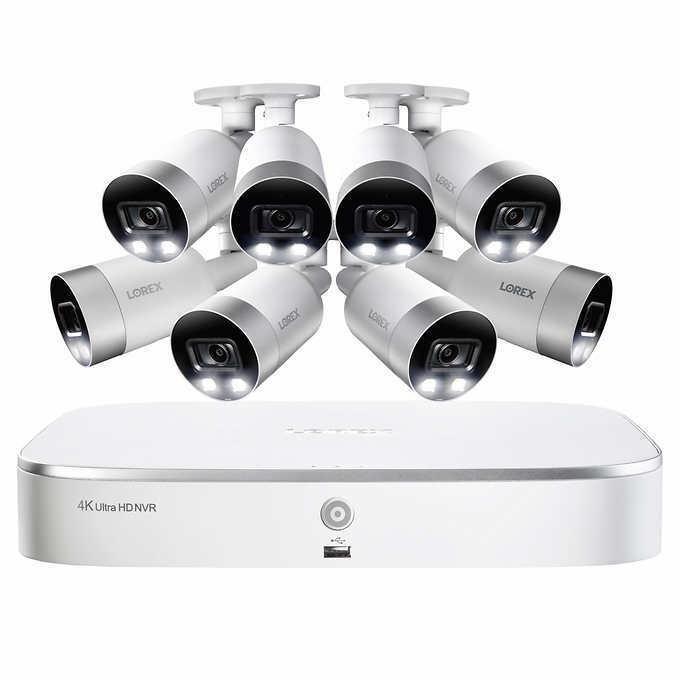 Lorex 4K IP Smart NVR System with 8 4K Security Cameras 2TB