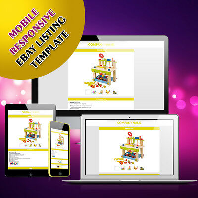Ebay Template Responsive Professional Listing Design Auction Html Mobile 2018