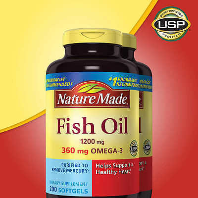 Nature Made Fish Oil 1200 mg, EPA, DHA & 360mg OMEGA-3, 400