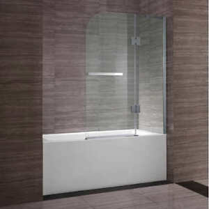 "NEW Ove Decors ""Clark"" 40"" 8mm Tempered Glass Bath Screen"