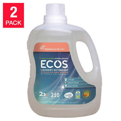 ECOS Magnolia and Lily Laundry Detergent 210 fl. oz, 2-count, 420 Loads -