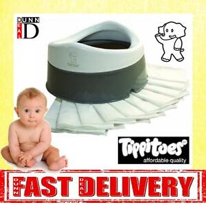 Tippitoes Tippi Toes Baby Strong Portable Folding Travel Potty & 10 Free Liners