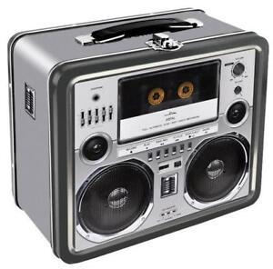 """Boombox w/ Cassette Deck Retro Lunch Box - 7.75"""" x 6.75"""""""
