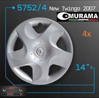 4x Original Murama Radkappen Für 14 Zoll Felgen Renault New Twingo 2007 online kaufen