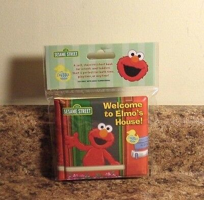 Sesame Street Bath Time Bubble Book Welcome To Elmo's House NEW