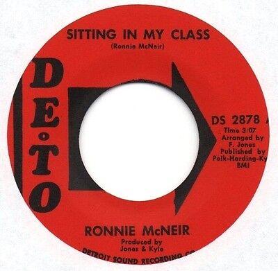 "Killer rare Northern Soul (Hear!) RONNIE McNEIR ""Sitting In My Class"" DETO"