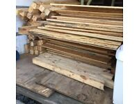 Ply Board and wooden posts