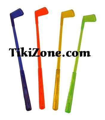 16 Golf Club Cocktail Swizzle Sticks/Drink stirs/Bar Stirrers - Golf Club Swizzle Sticks