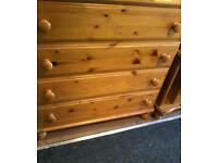 wide pine drawers