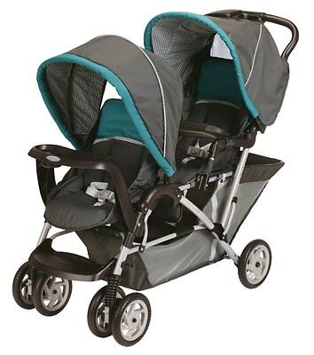 Graco DuoGlider Tandem Folding Double Baby Stroller - Dragonfly | 1853476 on Rummage