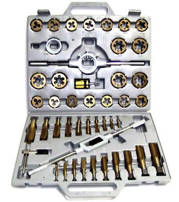 45 Pc Tap And Die Set Sae Tungsten Steel Titanium Tools