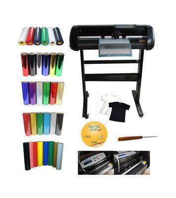 24 Vinyl Cutter Plotter 5yards Of Heat Transfer Vinyl Cutting Mat T-shirts Kit