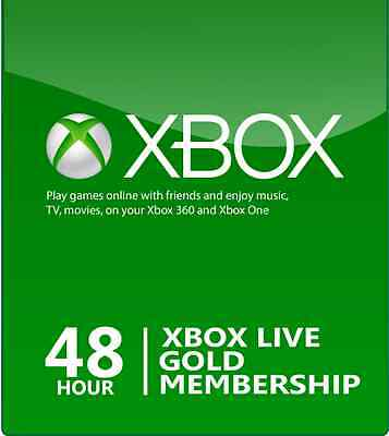 Xbox Live 2 Day 48 Hour Gold Trial Membership