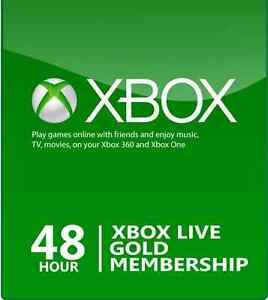 Xbox Live 2 Day/48 Hour Gold Trial Membership