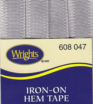 WRIGHTS DARK GRAY (047) IRON ON HEM TAPE-3 YARDS-NO SEW,REPAIR,CLOTHING ()