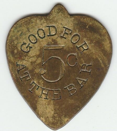 Pick shaped Good For 5c at Bar Token by maker H. RICE, Dayton O Ohio