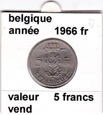 BF 2 )pieces de 5 francs baudouin I 1966 belgique