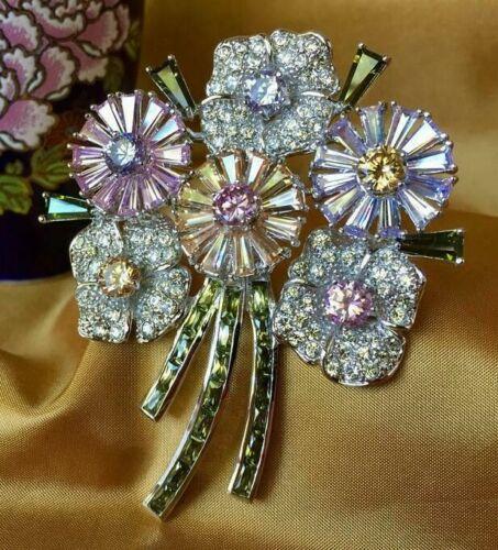 Nolan Miller Flowers in Full Bloom Pin Brooch ~ NIB With Papers